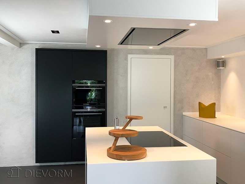 Witte Minimalistische Woonkeuken : Minimalistische keuken dievorm