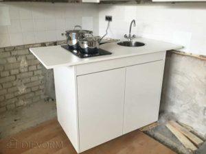 mobiele tijdelijke vervangende keuken Dievorm keukens op maat
