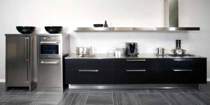 Handgrepen Keuken Zwart : RVS keuken Arnhem – Mijn Keukens op Maat laten maken