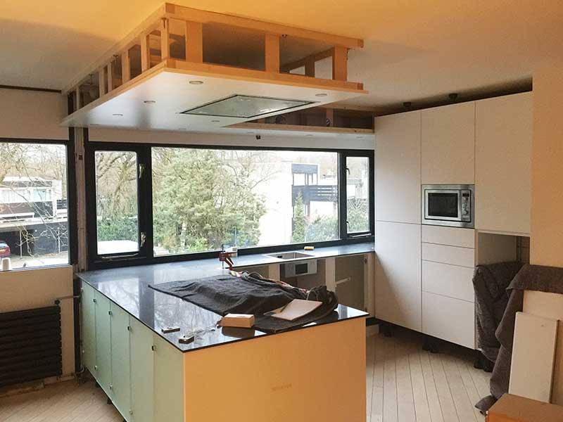 Keuken Schiereiland Met : Greeploze keuken met schiereiland obly